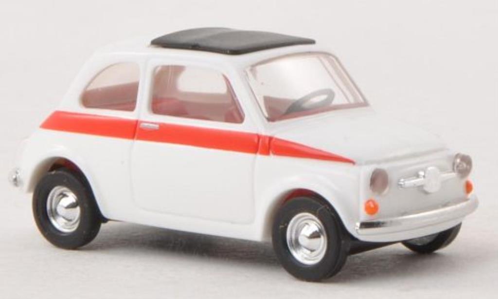 Fiat 500 Sport 1/87 Busch bianca 1965 miniatura