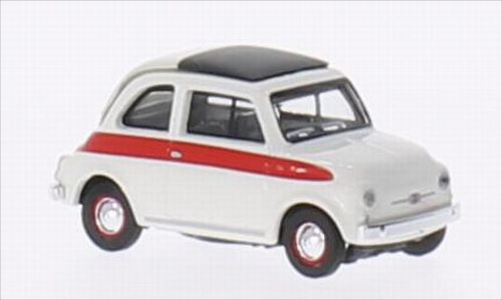 Fiat 500 Sport 1/87 Schuco white/red diecast model cars