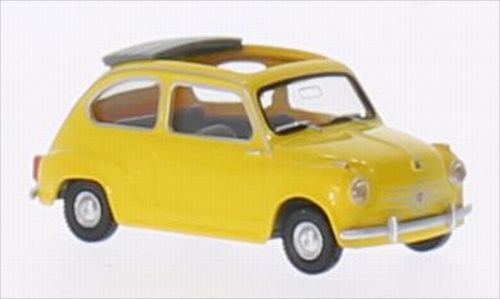 Fiat 600 1/87 Wiking yellow diecast