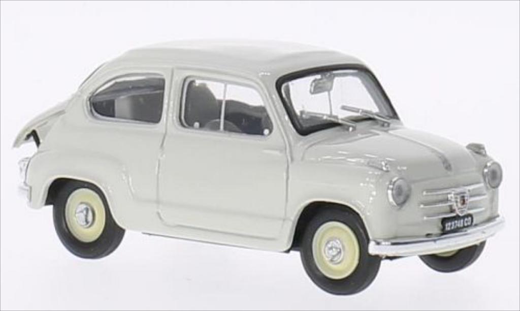 Fiat 600 1/43 Brumm grise 1956 miniature