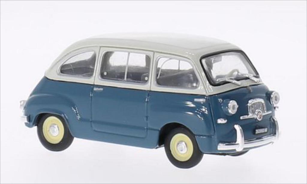Fiat 600 1/43 Brumm Multipla bleu/gray 1956 diecast