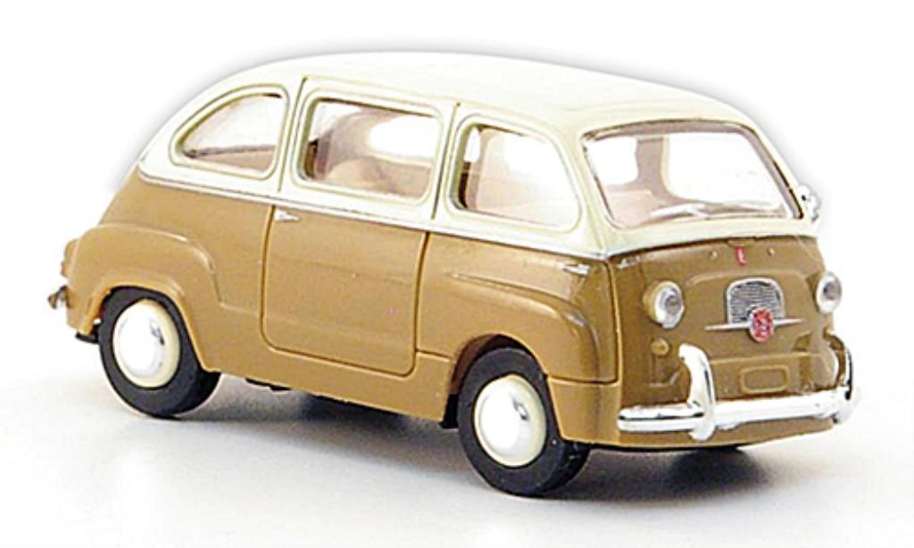 Fiat 600 1/87 Brekina Multipla brown/elfenbein diecast
