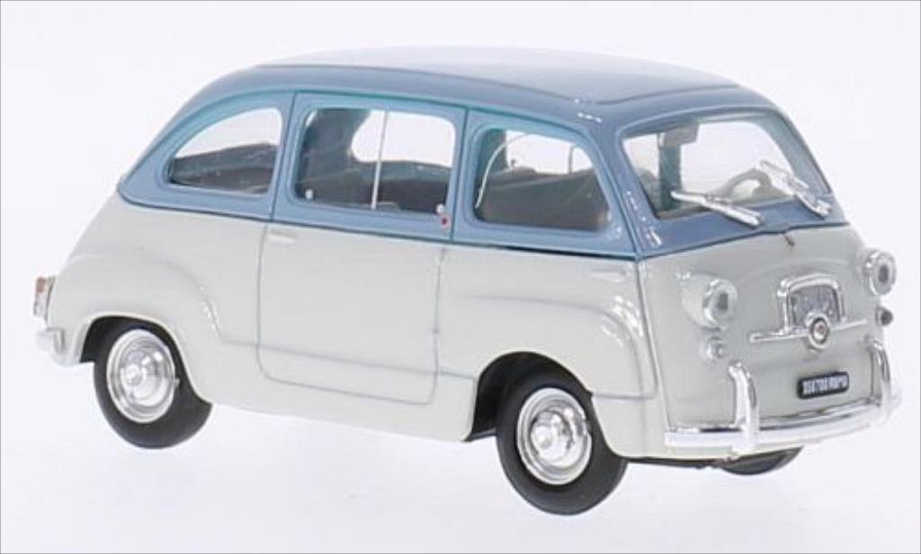 Fiat 600 1/43 Brumm Multipla D gray/bleu 1960 diecast