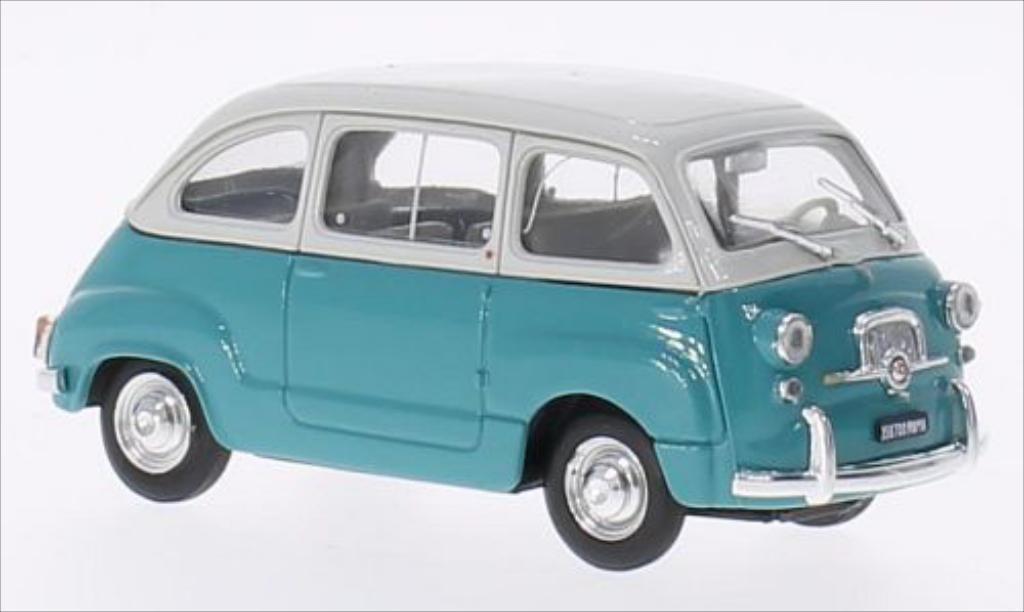 Fiat 600 1/43 Brumm Multipla D gray/turquoise 1960 diecast