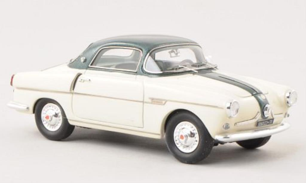 Fiat 600 1/43 Matrix Viotto Coupe beige/grun miniature