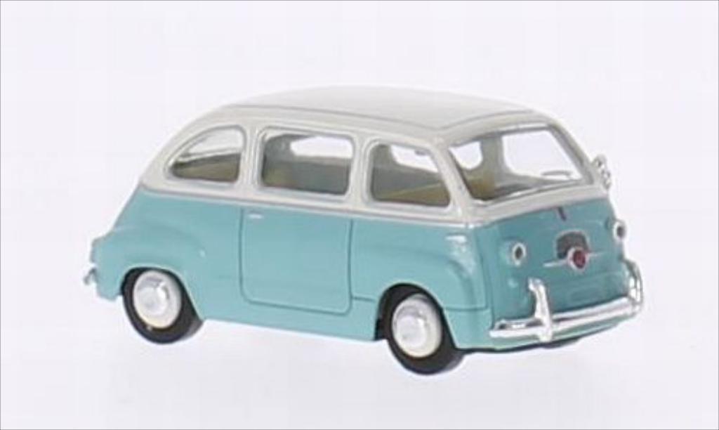 Fiat Multipla 1/87 Brekina turquoise/blanche miniature