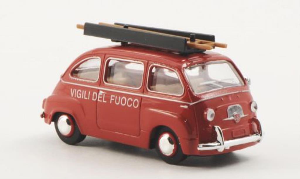 Fiat Multipla 1/87 Brekina Vigili del Fuoco diecast
