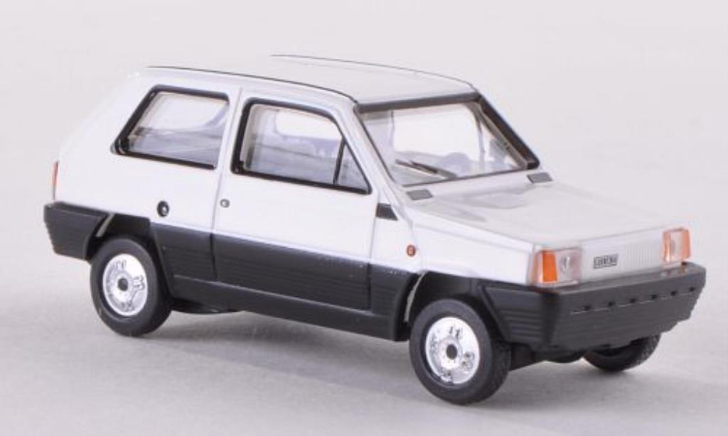 Fiat Panda 1/87 Herpa 45 blanche miniature