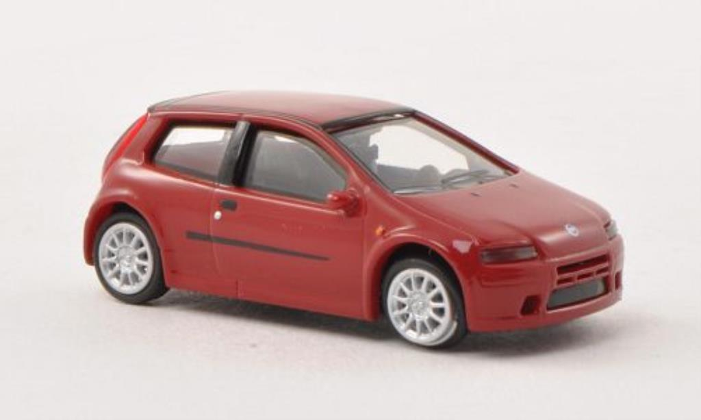 Fiat Punto 1/87 Busch red 2003 diecast model cars