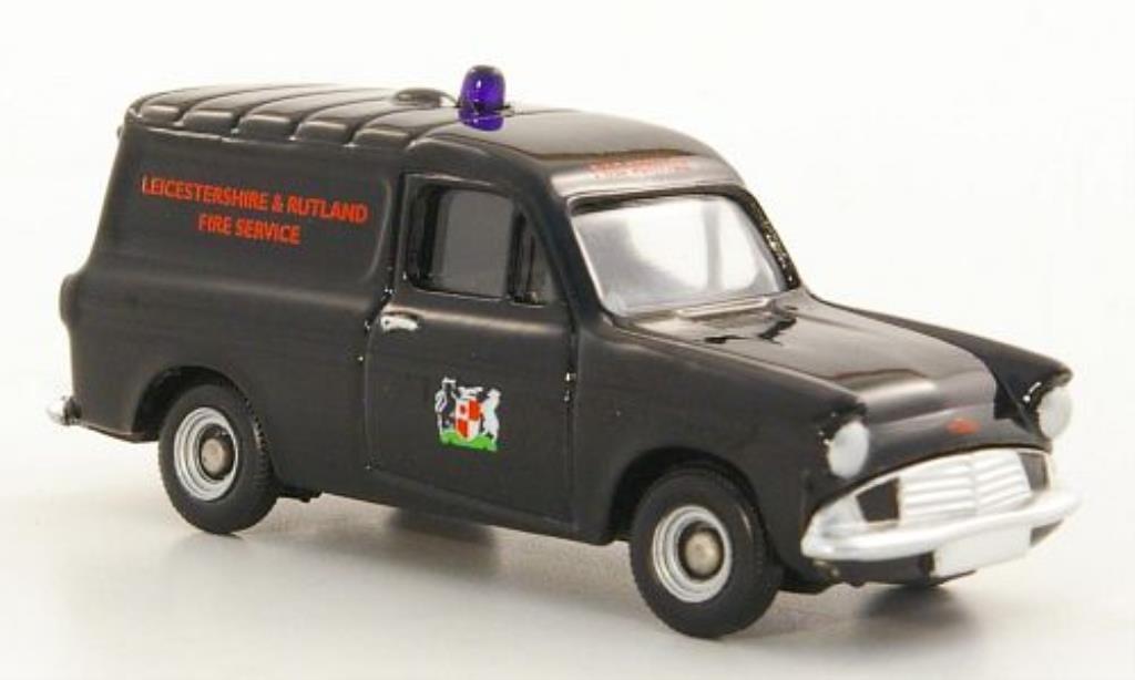 Ford Anglia 1/76 Corgi Kasten Leicestershire & Rutland Fire Service RHD