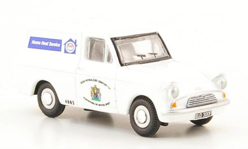 Ford Anglia 1/76 Oxford Kastenwagen Esso Service bianca miniatura