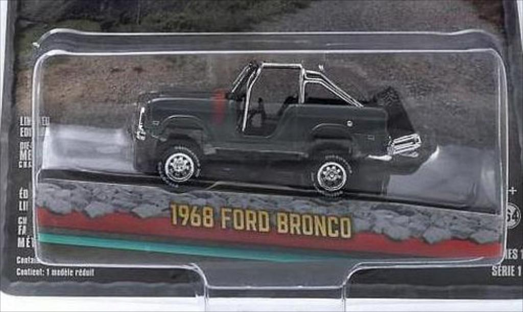 Ford Bronco 1/64 Greenlight metallic-grise 1968 miniature