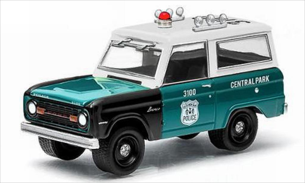 Ford Bronco 1/64 Greenlight NYPD - New York Police Department 1967 miniature