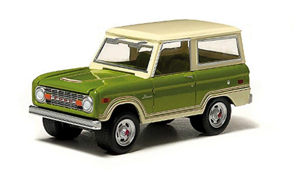 Ford Bronco 1/64 Greenlight Ranger grun/beige 1974 miniature