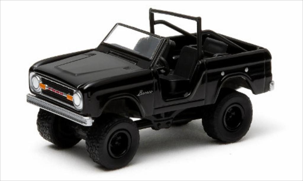 Ford Bronco 1/64 Greenlight black 1970 diecast
