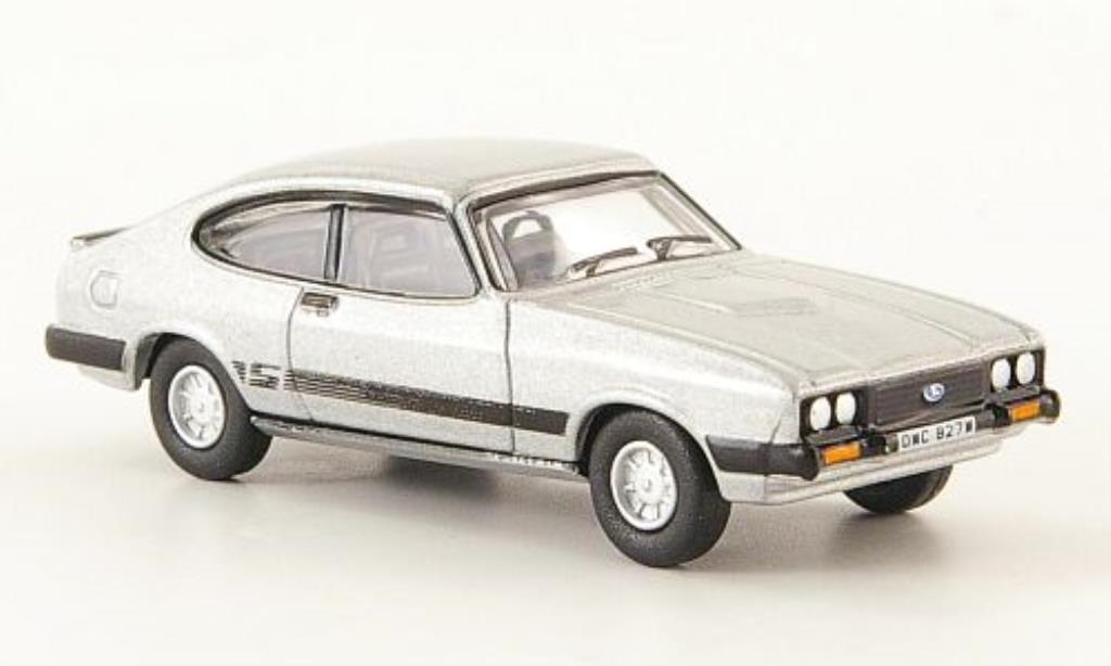 Ford Capri 1/76 Oxford Mk III grise miniature