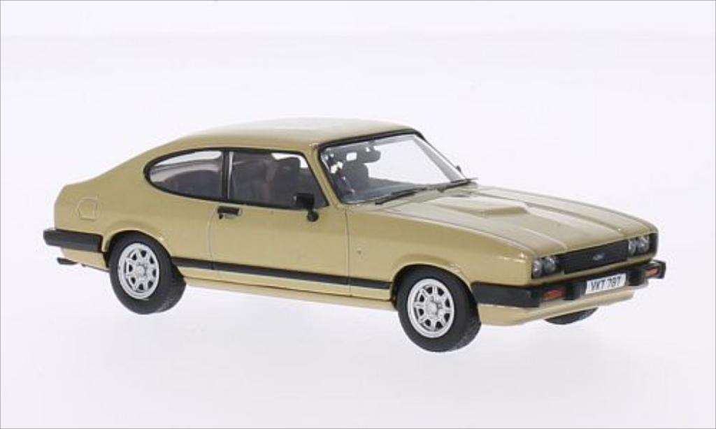 Ford Capri 1/43 Vanguards Mk3 3.0 Ghia gold RHD miniature