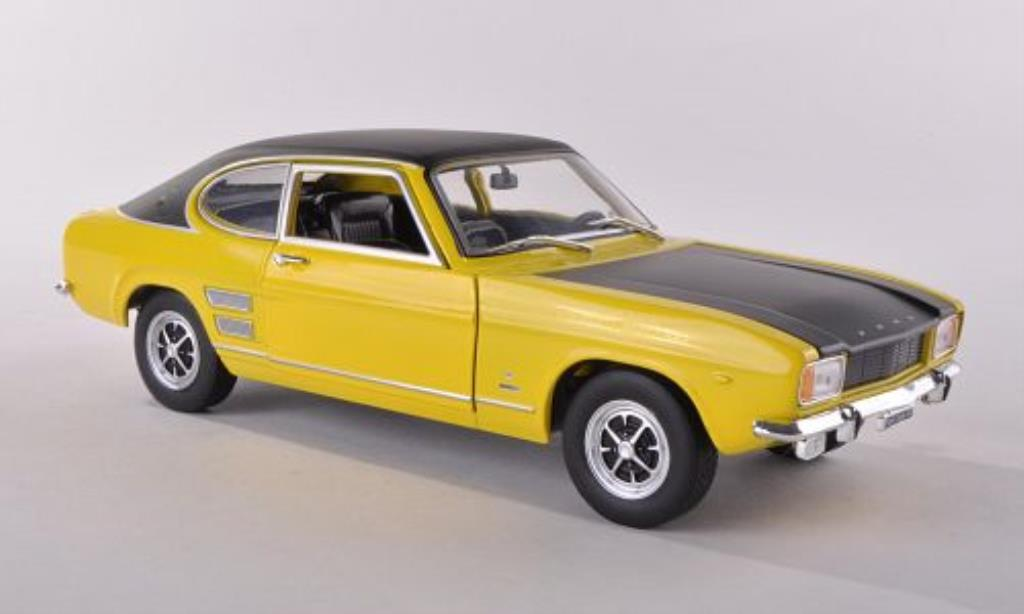 Ford Capri 1/24 WhiteBox MKI 1700 GT XLR jaune/noire 1970 miniature