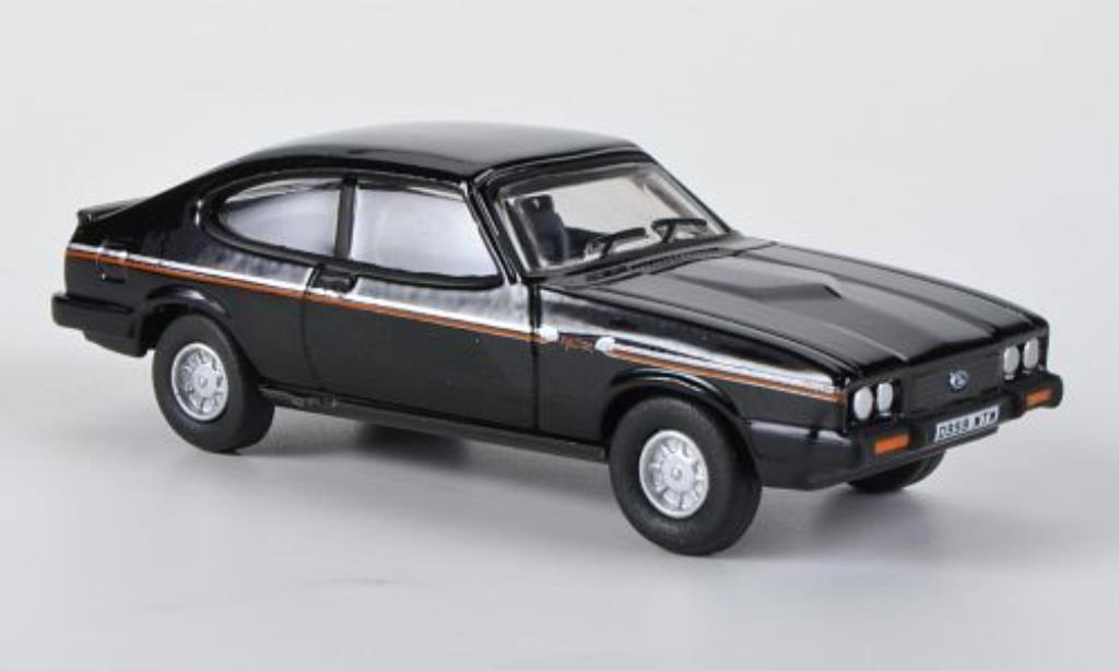 Ford Capri 1/76 Oxford MkIII 2.8 Injection noire 1983 miniature