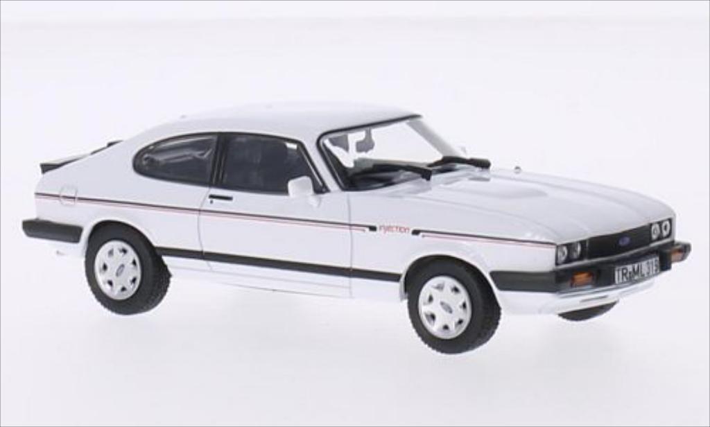 Ford Capri 1/43 Norev MkIII 2.8i weiss/Dekor 1984 modellautos