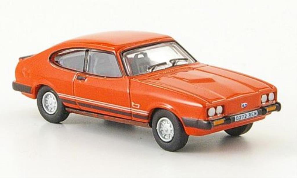 Ford Capri 1/76 Oxford MkIII Laser rouge miniature