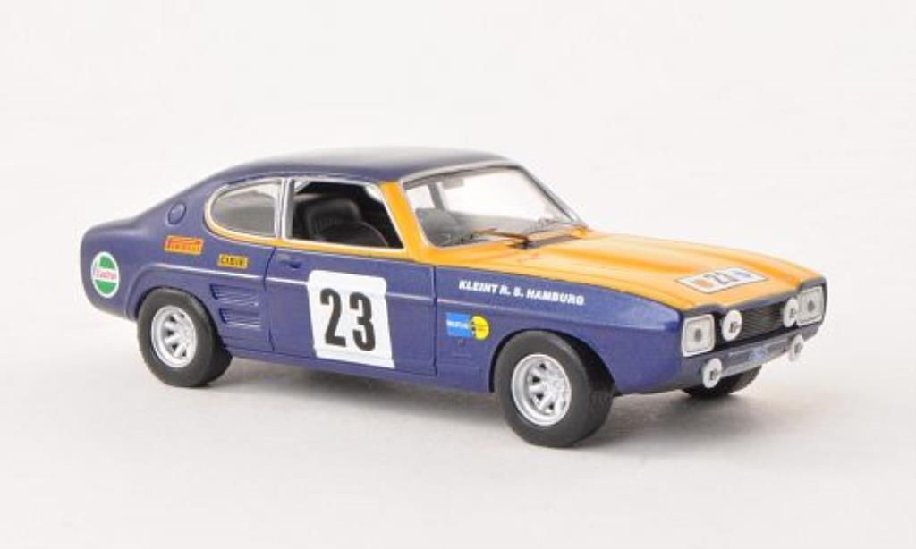 Ford Capri 1/43 IXO No.23 Olympia Rally 1972 miniature