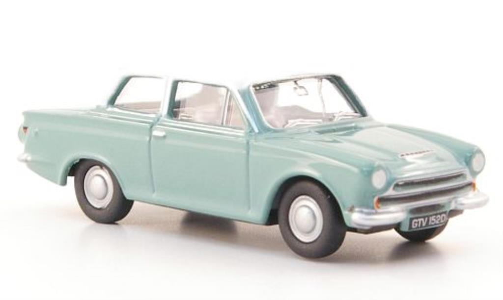 Ford Cortina 1/76 Oxford MKI bleu/blanche miniature