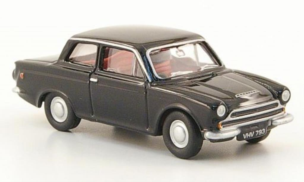 Ford Cortina 1/76 Oxford MKI noire miniature