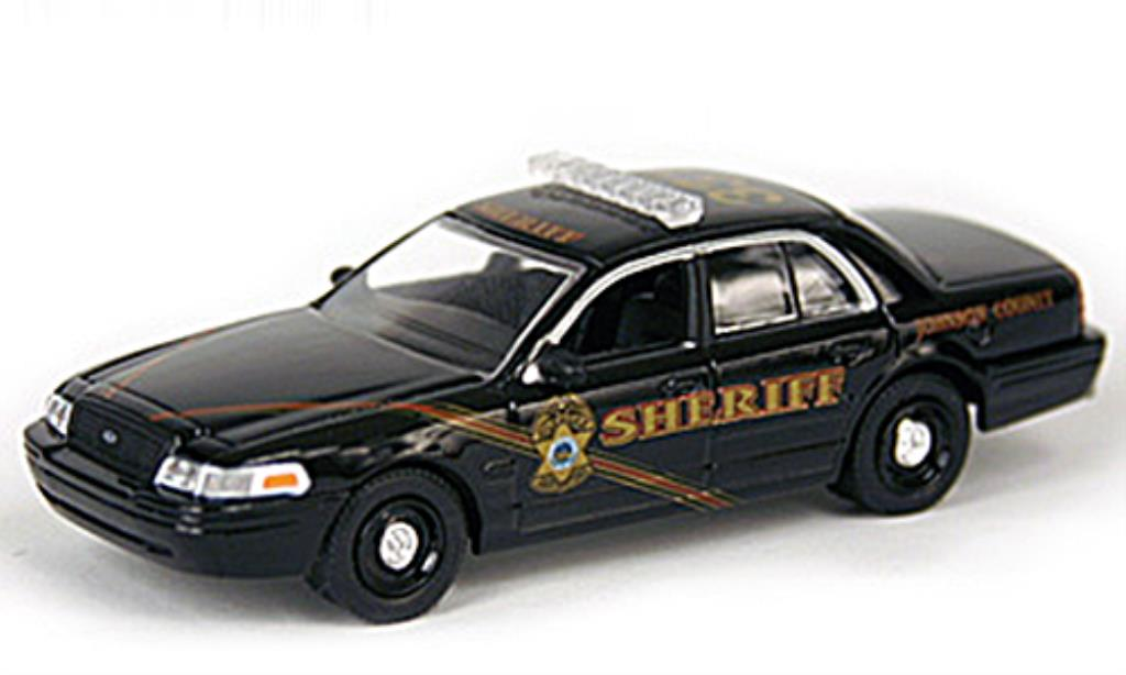 Ford Crown 1/64 Greenlight Victoria Johnson County Sheriff Cruiser Polizei (USA) 2008 miniature
