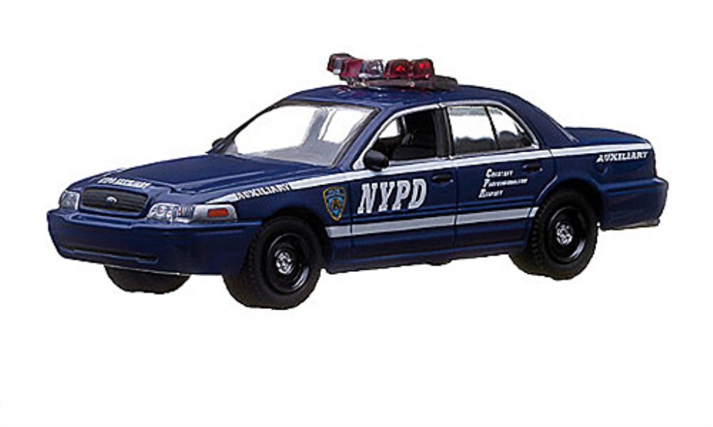Ford Crown 1/64 Greenlight Victoria NYPD Auxiliary - New York Police Department Polizei (USA) miniature
