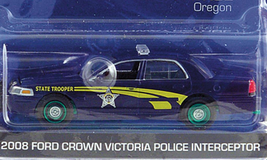 Ford Crown 1/64 Greenlight Victoria Oregon Highway Patrol Special Version 2008 miniature