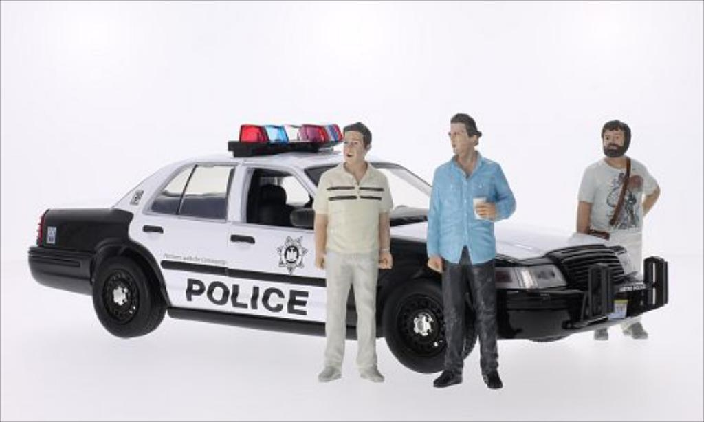 Ford Crown 1/18 Greenlight Victoria Police Interceptor Police 2009 miniature