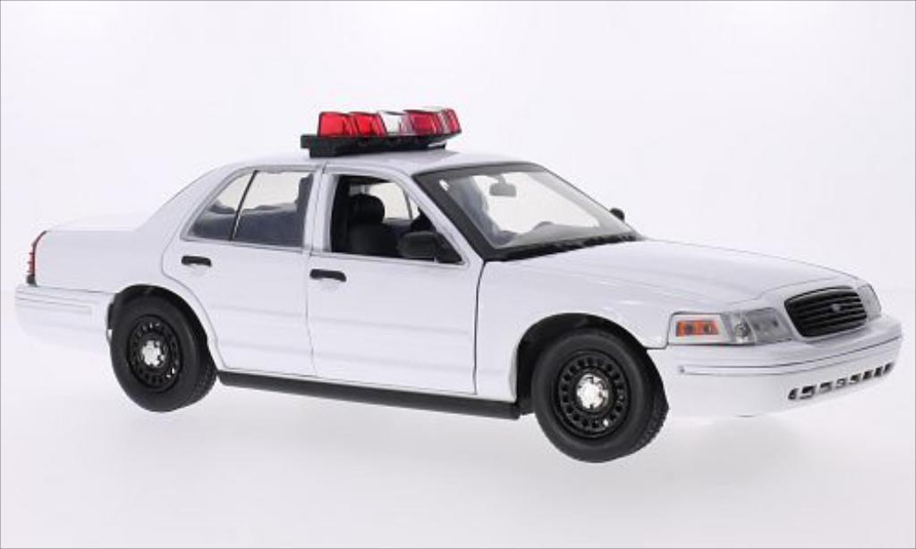 Ford Crown 1/18 Greenlight Victoria Police Interceptor blanche 2001 miniature