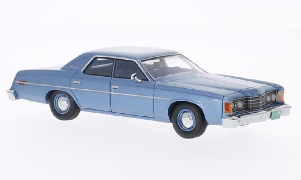 Ford Custom 1/43 Matrix bleu 1974 miniature