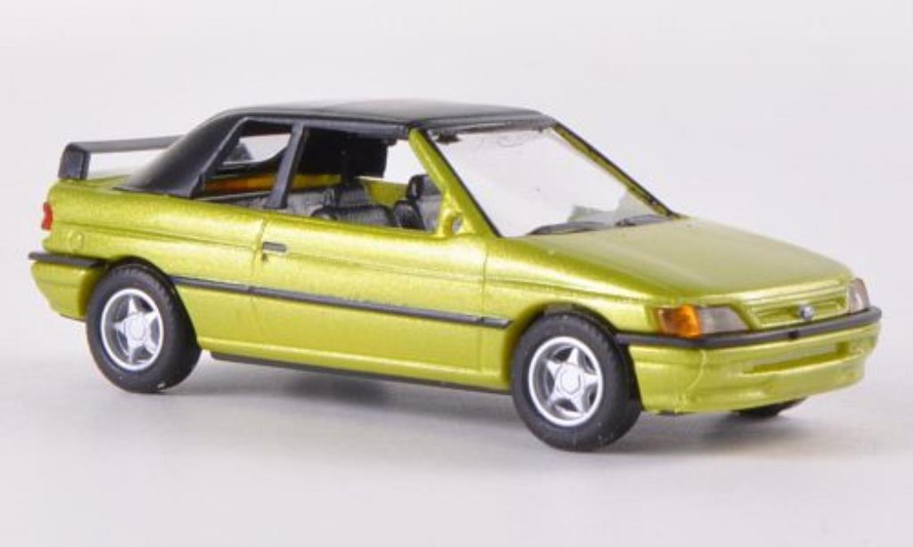 Ford Escort 1/87 Busch Cabrio geschlossen met.grun 1991 miniature