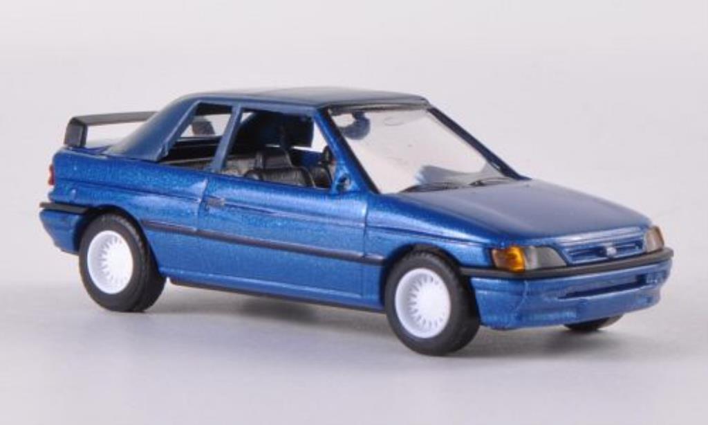 Ford Escort 1/87 Busch Cabrio geschlossen petrol 1991 coche miniatura