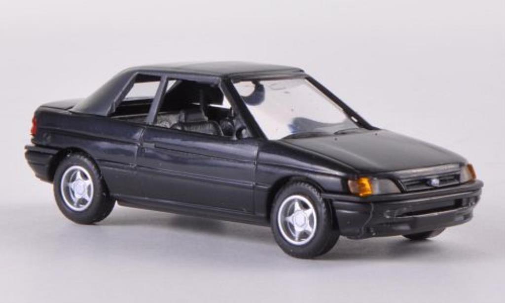 Ford Escort 1/87 Busch Cabrio geschlossen noire 1991 miniature