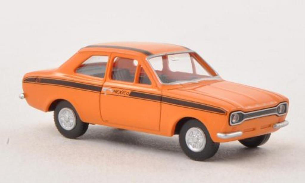 Ford Escort 1/87 Wiking I Mexico orange/black diecast