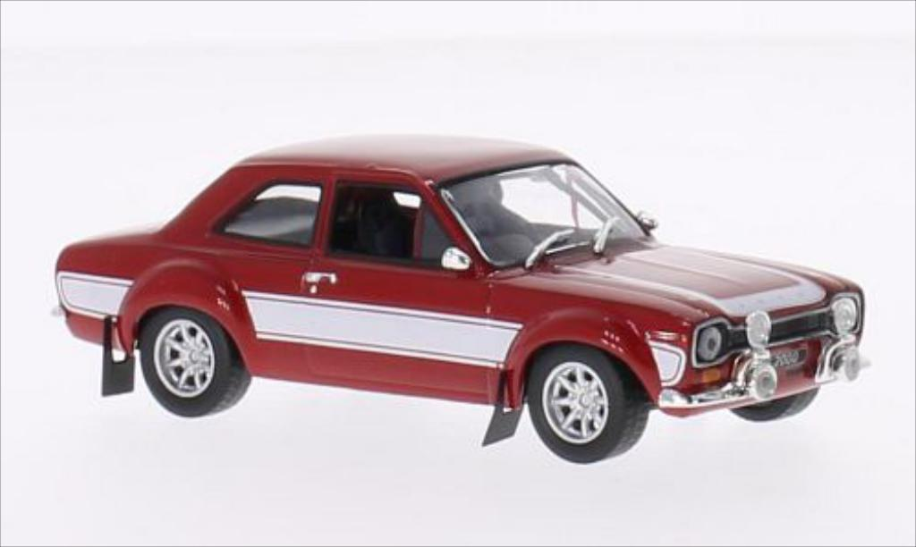Ford Escort 1/43 Greenlight I 2000 rouge/blanche 1974 miniature