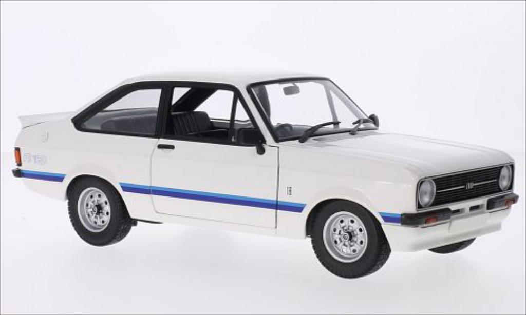 Ford Escort 1/18 Minichamps II  1800 blanche/Dekor RHD 1975