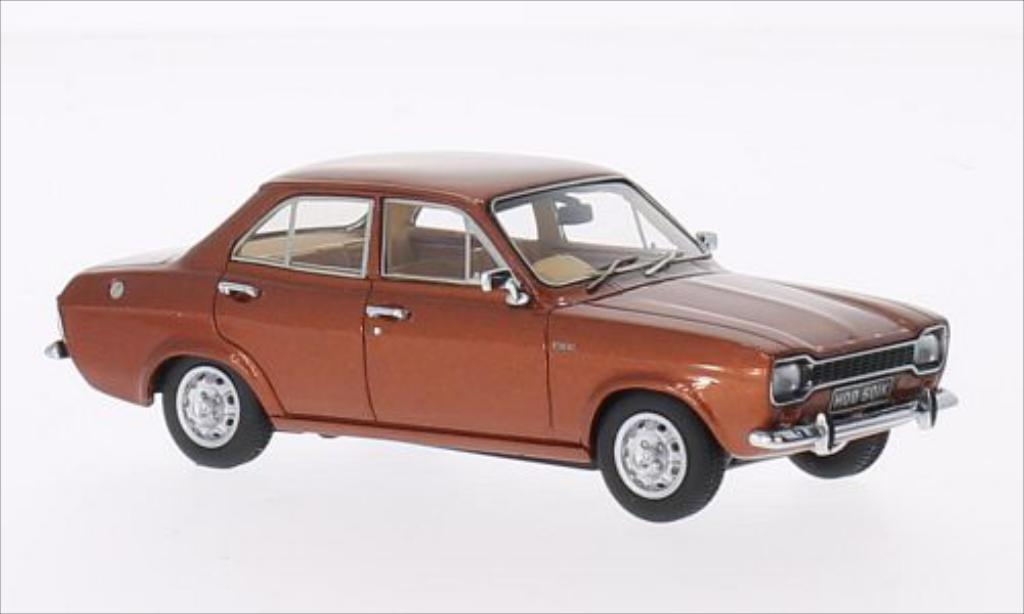 Ford Escort 1/43 Kess MK 1 1100 XL bronze 1973 miniature