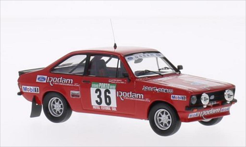 Ford Escort 1/43 Trofeu MK II 2000 No.36 Rodam Rallye WM Rallye Portugal 1985 miniature
