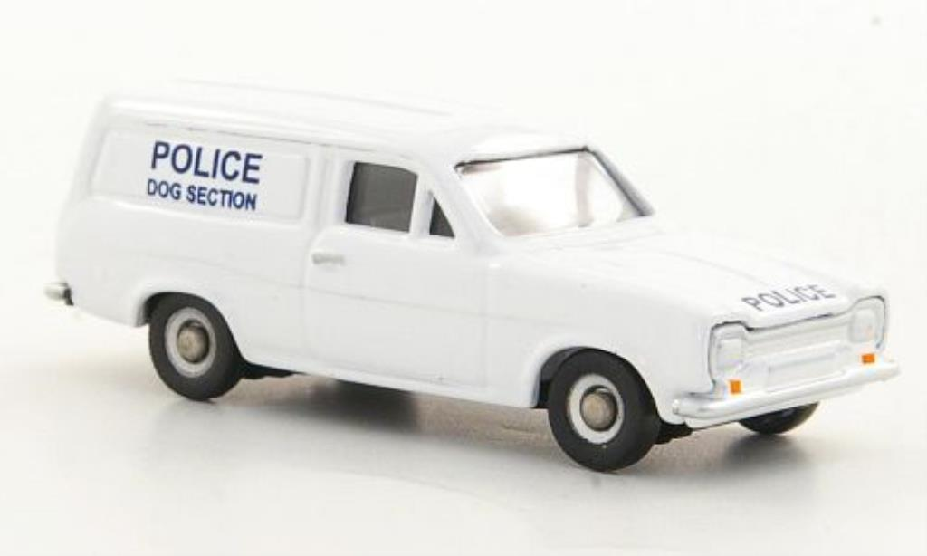 Ford Escort MK1 1/76 Corgi Kasten Police Dog Section Polizei (UK) RHD miniature