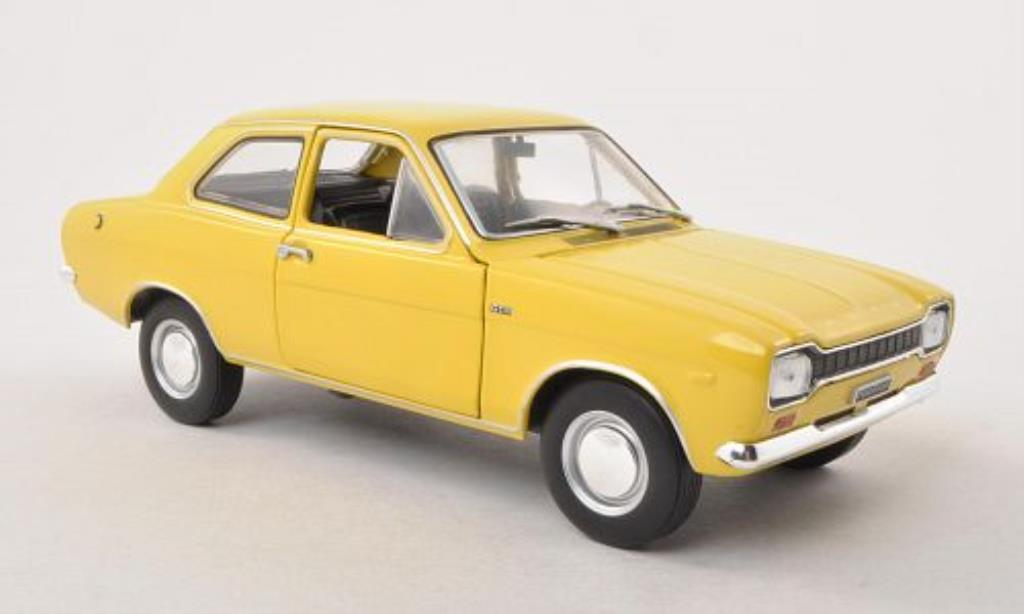 Ford Escort 1/24 WhiteBox MKI 1300 GT jaune 1969 miniature