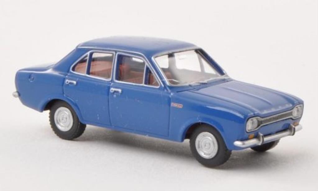 Ford Escort 1/87 Wiking MkI bleu 4-Turer miniature