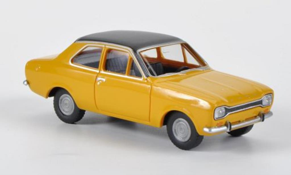 Ford Escort 1/87 Wiking MkI jaune/noire miniature