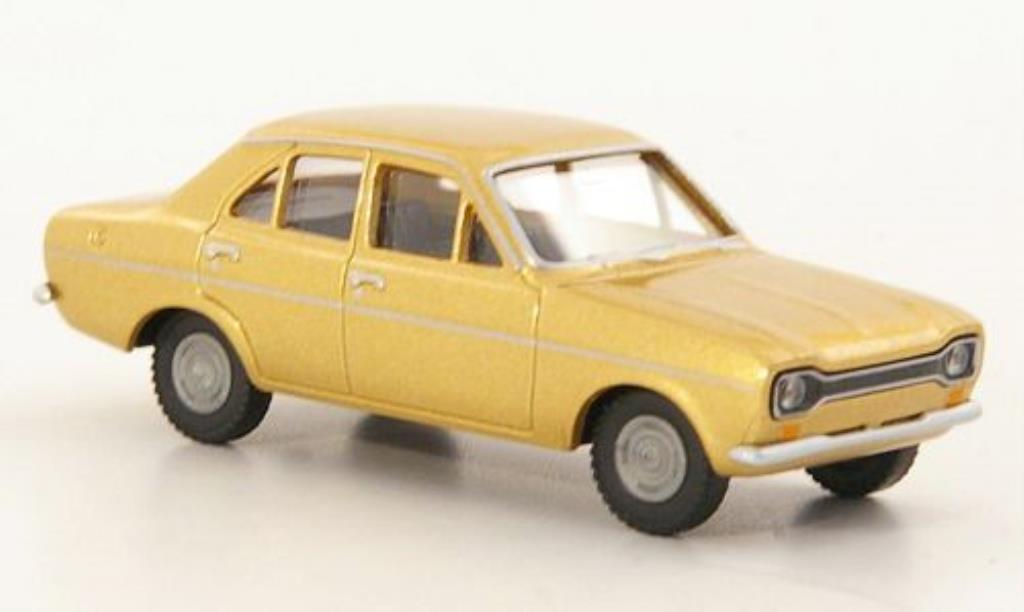 Ford Escort 1/87 Wiking MkI gold 4-turig miniature