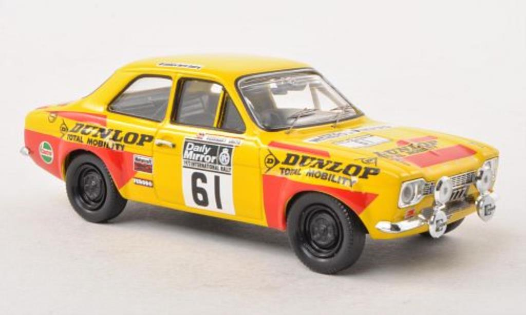 Ford Escort 1/43 Trofeu MkI  1600 No.61 Dunlop R.A.C.Rally 1972 /P.Gullick miniature