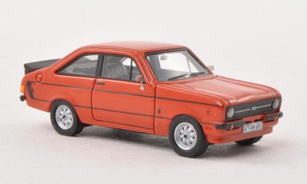 Ford Escort 1/87 Neo MKII 1600 Sport rouge RHD mit -Paket 1976 miniature