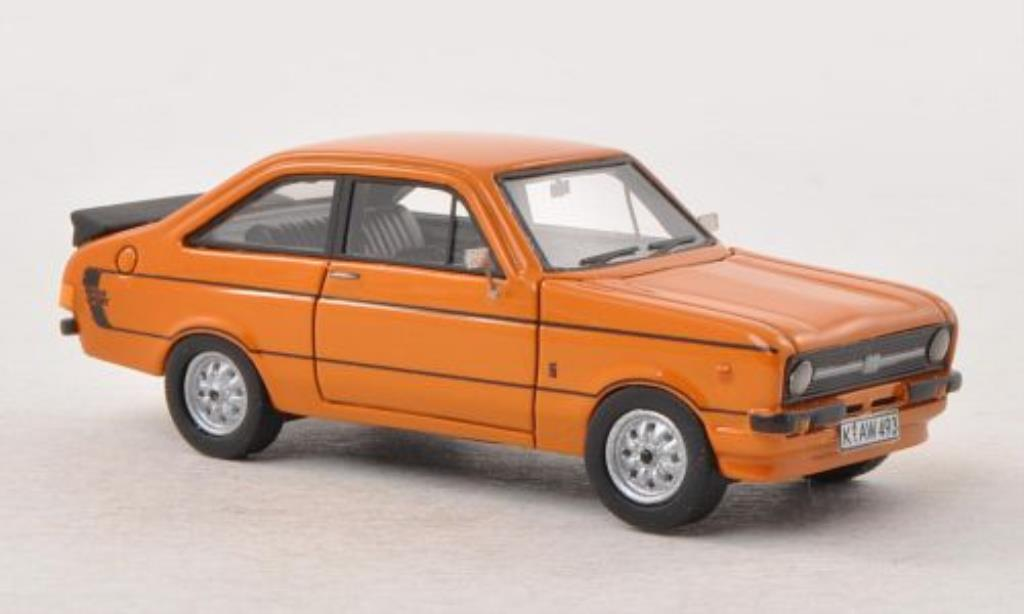 Ford Escort 1/87 Neo MKII orange RHD mit -Paket 1978 diecast